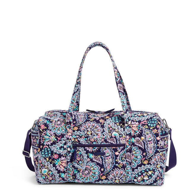 Large Travel Duffel Bag-French Paisley-Image 1-Vera Bradley