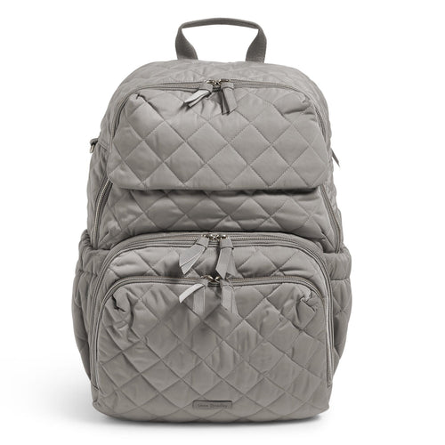 Backpack Baby Bag-Performance Twill Tranquil Gray-Image 1-Vera Bradley