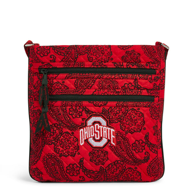Collegiate Triple Zip Hipster Crossbody-Red/Black Bandana with The Ohio State University Logo-Image 1-Vera Bradley