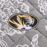 Collegiate Vera Tote Bag-Gray/White Bandana with University of Missouri Logo-Image 2-Vera Bradley