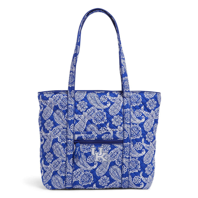 Collegiate Vera Tote Bag-Royal/White Bandana with University of Kentucky-Image 1-Vera Bradley
