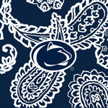 Collegiate RFID All in One Crossbody Bag-Navy/White Bandana with Penn State University Logo-Image 3-Vera Bradley