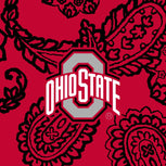 Collegiate RFID All in One Crossbody Bag-Red/Black Bandana with The Ohio State University Logo-Image 2-Vera Bradley