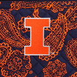 Collegiate RFID All in One Crossbody Bag-Navy/Orange Bandana with University of Illinois Logo-Image 2-Vera Bradley