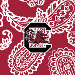 Collegiate RFID All in One Crossbody Bag-Cardinal/White Bandana with University of South Carolina Logo-Image 2-Vera Bradley