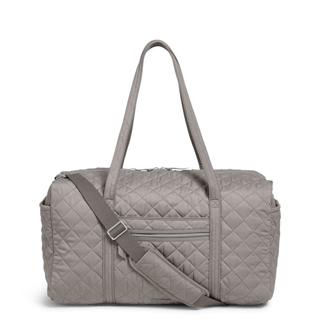 Large Travel Duffel Bag-Performance Twill Tranquil Gray-Image 1-Vera Bradley