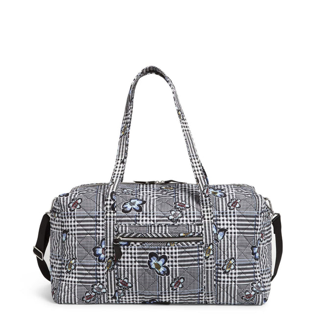 Large Travel Duffel Bag-Bedford Plaid-Image 1-Vera Bradley