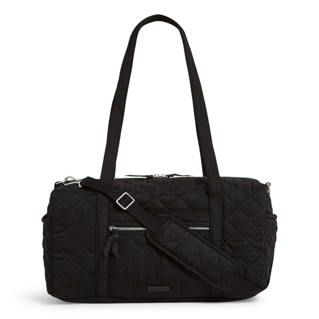 Small Travel Duffel Bag-Performance Twill Black-Image 1-Vera Bradley