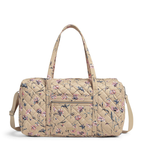 Lay Flat Travel Duffel Bag-Strawflowers-Image 1-Vera Bradley