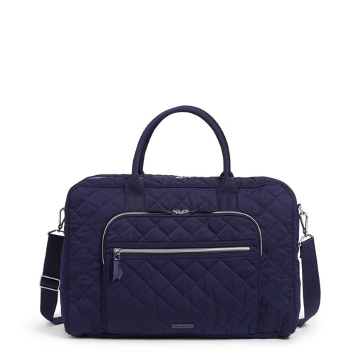 Lay Flat Weekender Travel Bag-Performance Twill Classic Navy-Image 1-Vera Bradley