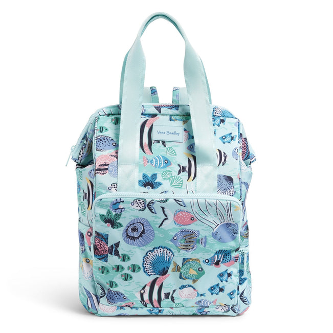 Cooler Backpack-Paisley Wave Fish-Image 1-Vera Bradley