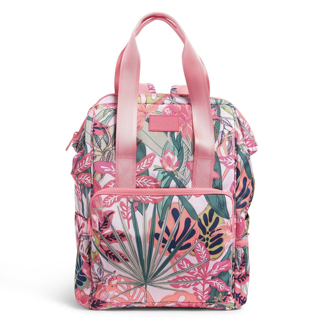 Cooler Backpack-Rain Forest Canopy Coral-Image 1-Vera Bradley