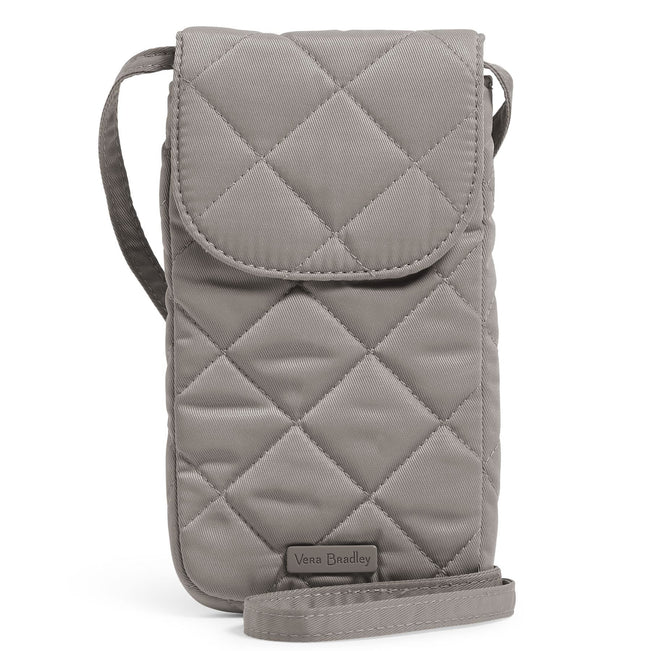 Carson RFID Deluxe Cellphone Crossbody-Performance Twill Tranquil Gray-Image 1-Vera Bradley