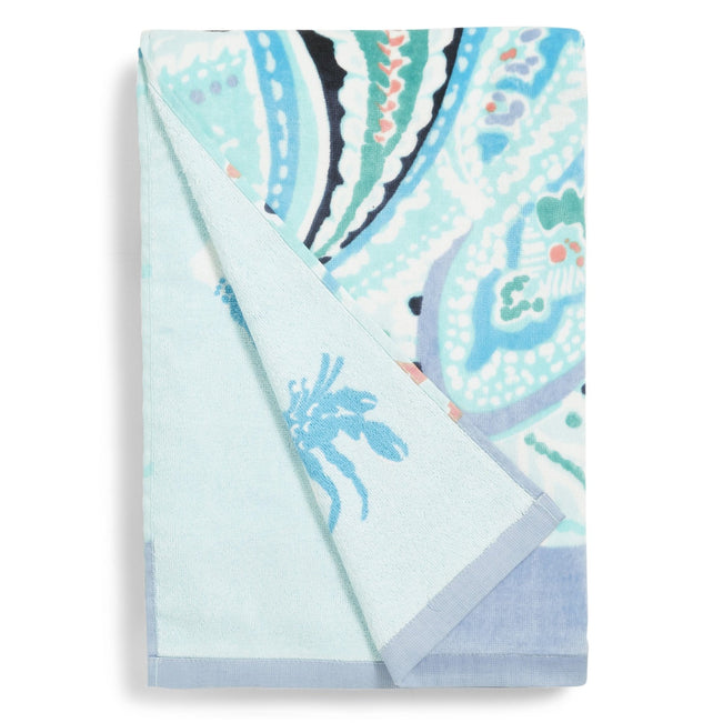 Double Sided Beach Towel-Paisley Wave-Image 1-Vera Bradley