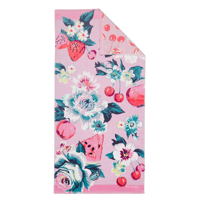 Double Sided Beach Towel-Rosy Garden Picnic-Image 1-Vera Bradley