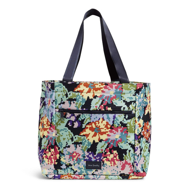 Drawstring Family Tote Bag-Happy Blooms Cross-Stitch-Image 1-Vera Bradley
