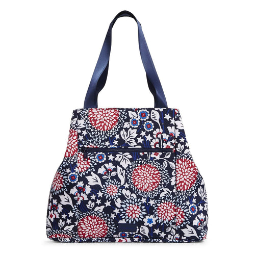 Large Family Tote Bag-Red White & Blossoms-Image 1-Vera Bradley