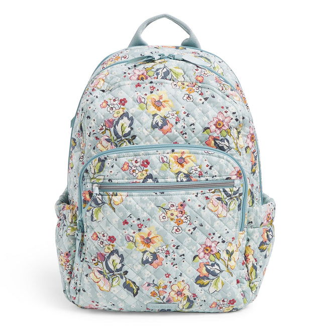 Campus Backpack-Floating Garden-Image 1-Vera Bradley