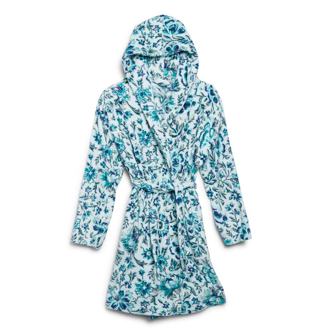 Lightweight Fleece Robe-Cloud Floral-Image 1-Vera Bradley
