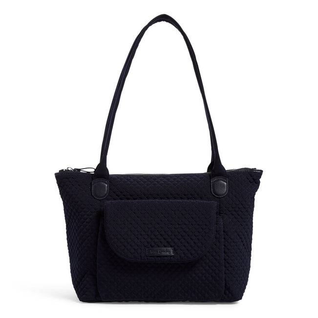 Carson East West Tote Bag-Microfiber Classic Navy-Image 1-Vera Bradley