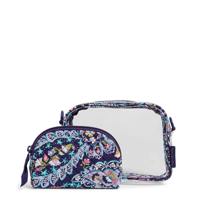 Clearly Colorful Stadium Crossbody Set-French Paisley-Image 1-Vera Bradley