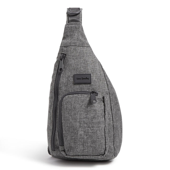 Mini Sling Backpack-ReActive Gray Heather-Image 1-Vera Bradley