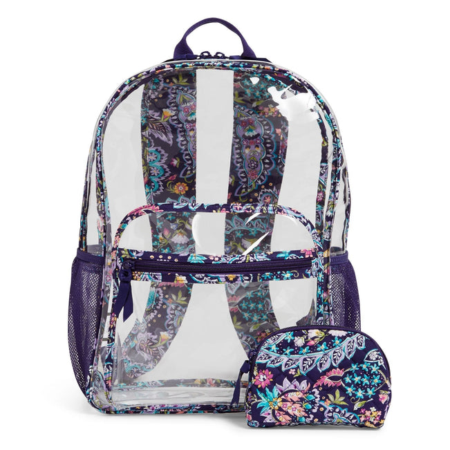 Clearly Colorful Large Backpack Set-French Paisley-Image 1-Vera Bradley