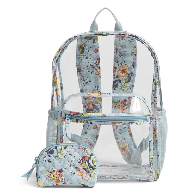 Clearly Colorful Large Backpack Set-Floating Garden-Image 1-Vera Bradley