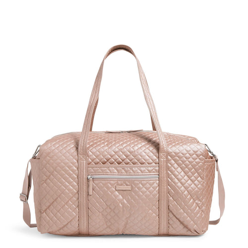 Large Travel Duffel Bag-Rose Quartz-Image 1-Vera Bradley