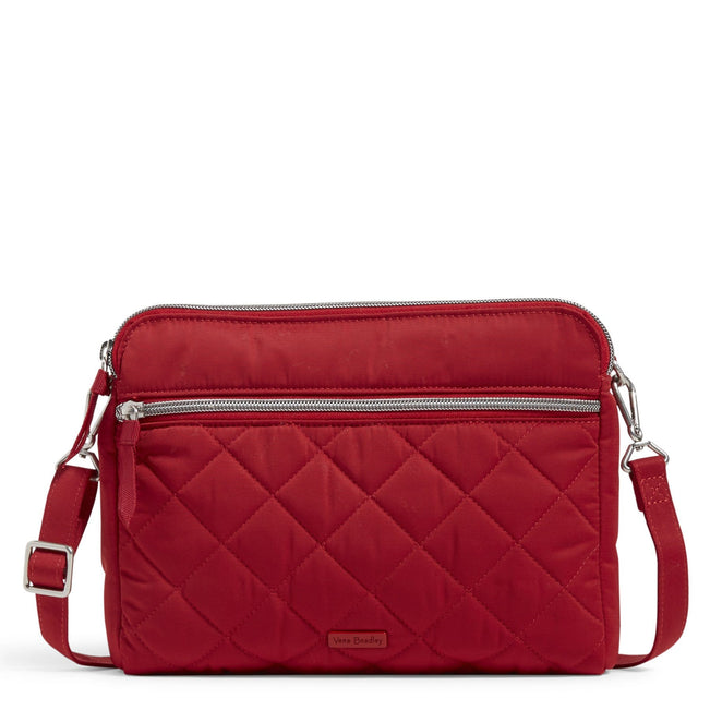 Triple Compartment Crossbody Bag-Performance Twill Cardinal Red-Image 1-Vera Bradley