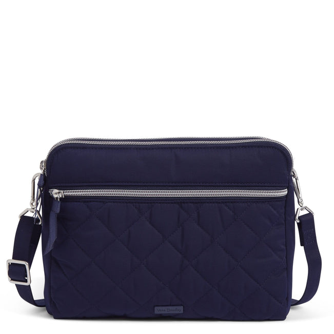 Triple Compartment Crossbody Bag-Performance Twill Classic Navy-Image 1-Vera Bradley
