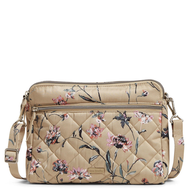 Triple Compartment Crossbody-Strawflowers-Image 1-Vera Bradley