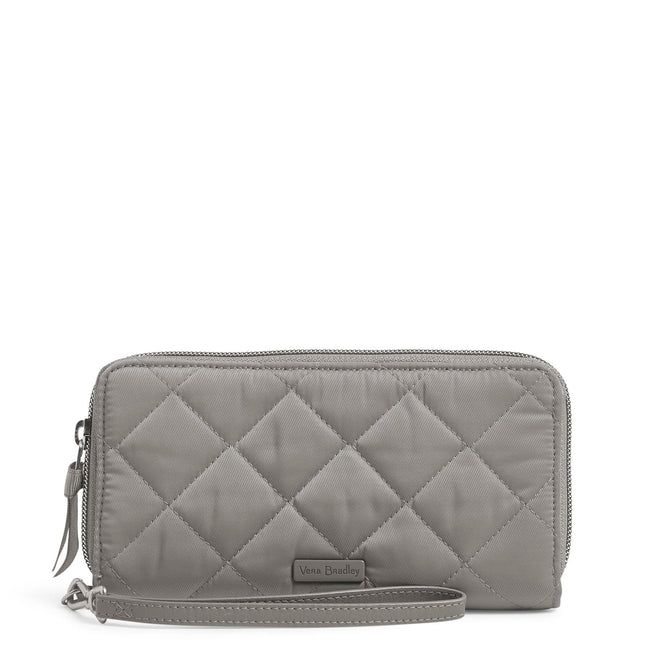 RFID Accordion Wristlet-Performance Twill Tranquil Gray-Image 1-Vera Bradley