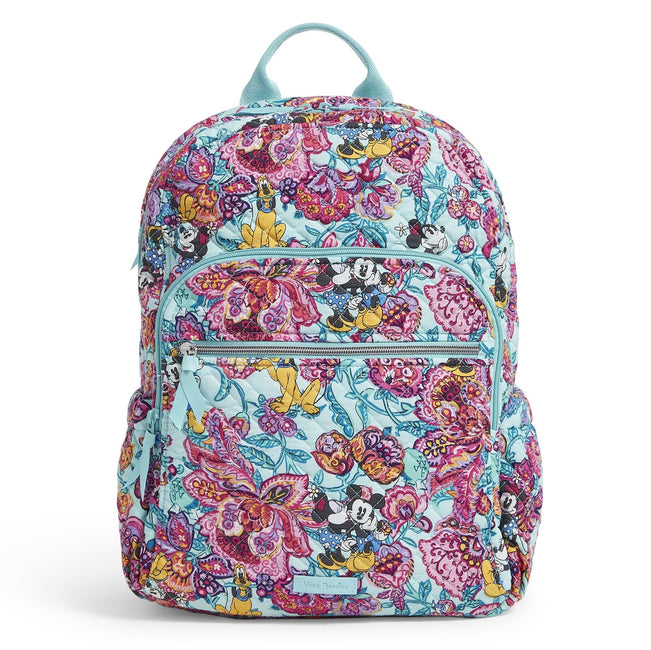 Campus Backpack-Mickey's Colorful Garden-Image 1-Vera Bradley
