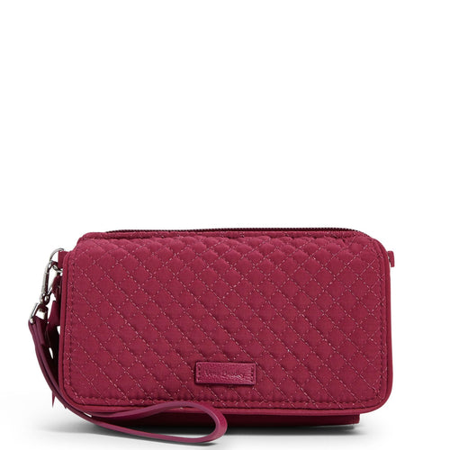 RFID All in One Crossbody-Microfiber Raspberry Radiance-Image 1-Vera Bradley