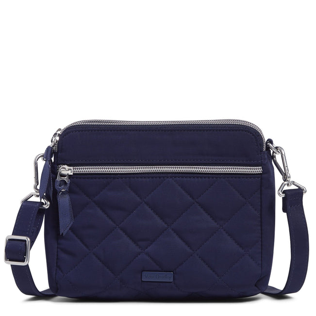 RFID Medium Triple Compartment Crossbody Bag-Performance Twill Classic Navy-Image 1-Vera Bradley