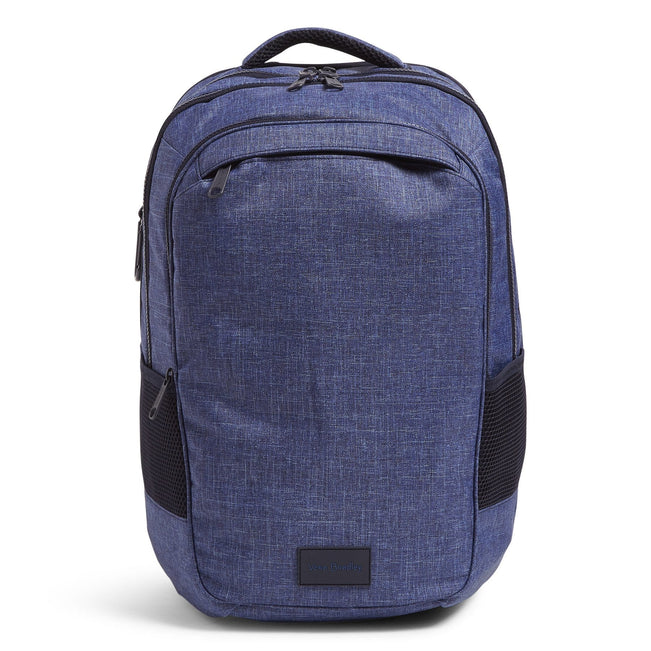 XL Backpack-ReActive Dark Blue Heather-Image 1-Vera Bradley