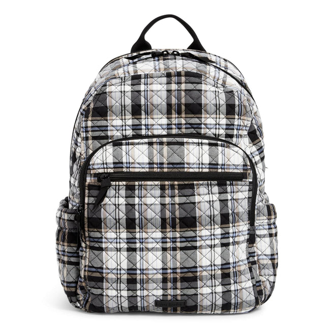 Campus Backpack-Cozy Plaid Neutral-Image 1-Vera Bradley