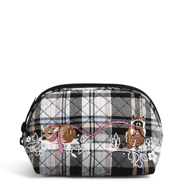 Clamshell Cosmetic Bag-Cozy Plaid Neutral-Image 1-Vera Bradley