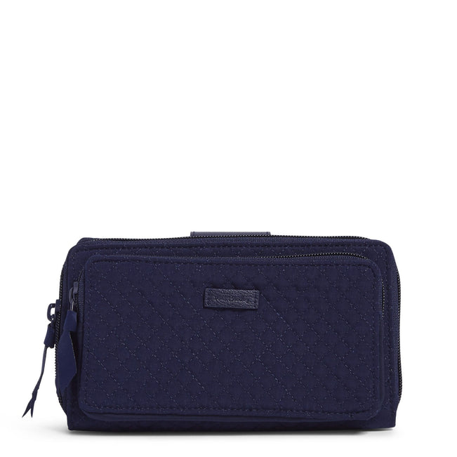 RFID Deluxe All Together Crossbody-Microfiber Classic Navy-Image 1-Vera Bradley