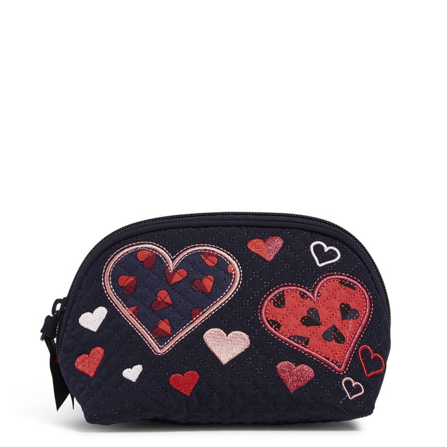 Clamshell Cosmetic Bag-Sweet Hearts-Image 1-Vera Bradley