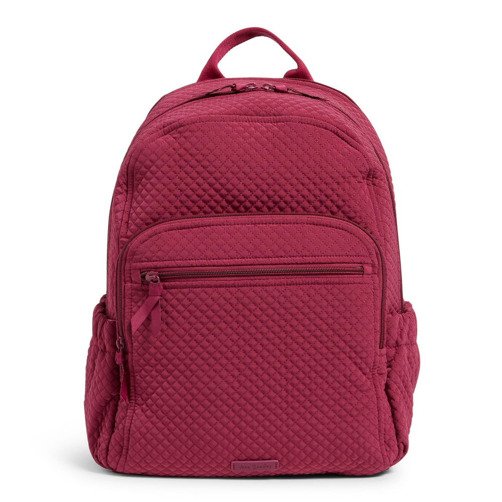 Campus Backpack-Microfiber Raspberry Radiance-Image 1-Vera Bradley
