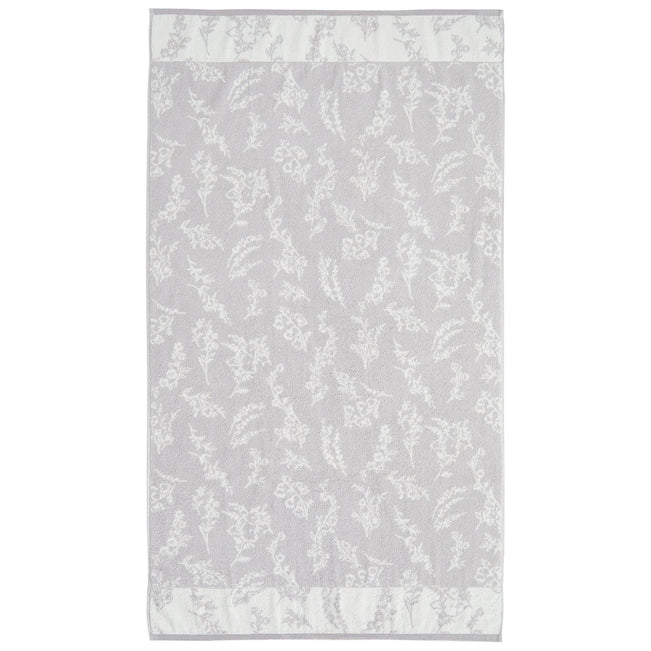 Hummingbird Blooms Bath Towel-Light Gray-Image 1-Vera Bradley