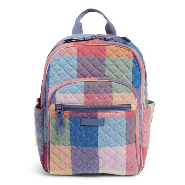 Small Backpack-Tropics Plaid-Image 1-Vera Bradley