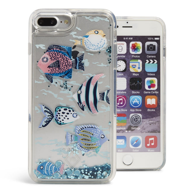 Glitter Flurry Case for iPhone 6+/7+-Paisley Wave Fish-Image 1-Vera Bradley