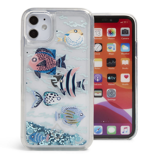 Glitter Flurry Case for iPhone XR/11-Paisley Wave Fish-Image 1-Vera Bradley