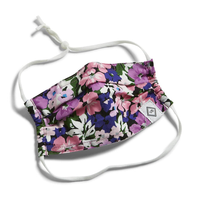 Youth Pleated Mask with Adjustable Elastic-Flower Garden-Image 1-Vera Bradley