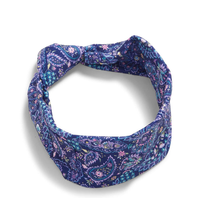Knotted Headband with Buttons-French Paisley-Image 1-Vera Bradley