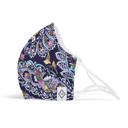 Fitted Mask with Adjusters-French Paisley-Image 1-Vera Bradley