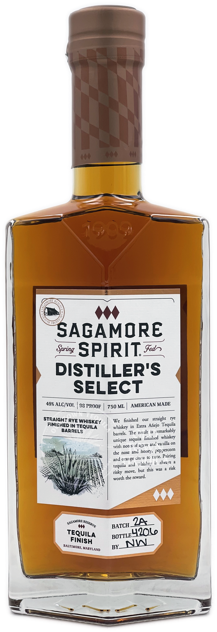 Sagamore Distiller's Select Tequila Barrels Finished Whiskey 750ml